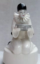 Pierrot Mime Send in the Clowns Sad Looking into Bowl Rotating Music Box Japan