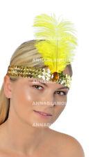 GOLD SEQUIN HEADBAND SEQUINNED HAIR BAND 1920s Flapper Gatsby