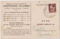 ITALIA 1948 POLISTENA CALABRIA TIPOGRAFIA PER CELEBRAZIONE DI MATRIMONIO