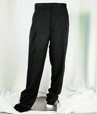 JOSEPH ABBOUD [NEW] Black Man Tuxedo Pants with Suspenders Button Inserts