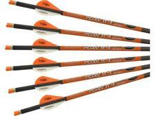 "New Ravin Crossbow Arrows With Orange Nocks 400grain (.001"") 6 Pack Model # R139"