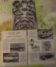 Document Salon de l'Automobile 1954 USA Oldsmobile Pontiac Hudson Kaiser