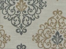 Vermillionaire Earth Damask Faux Silk 100% Polyester Fabric