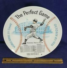 Don Larsen 1956 NY Yankees Dodgers The Perfect Game Plate World Series 5th Game