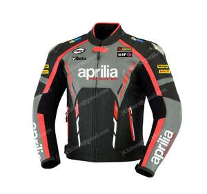 APRILIA Motorcycle Biker Leather Jacket Mens Racing Motorbike Leather Jackets