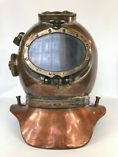 Vintage Maritime Siebe Gorman Mine Clearance Re-breather Diver Diving Helmet