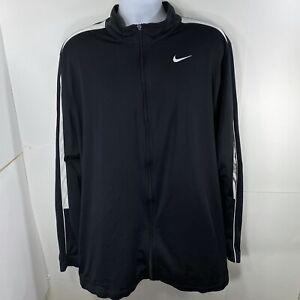 Nike Men's XXLT Full Zip Lightweight Athletic Sweatshirt Black Track Jacket