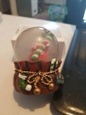 used christmas small snowglobe,