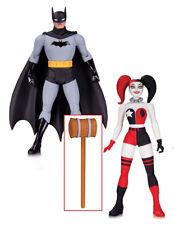 "DC Comics Darwyn Cooke Art BATMAN HARLEY QUINN 6"" toy boxed figure set, Justice"