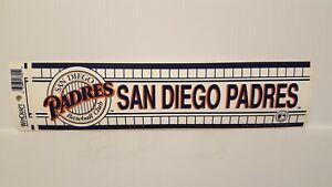 SAN DIEGO PADRES   Vintage Team Bumper Sticker (1990's) Decal Strip