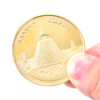 Gold Plated Egyptian Pyramid Commemorative Coin Souvenir Collection Challenge C`