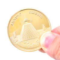 Gold Plated Egyptian Pyramid Commemorative Coin Souvenir Collection Challenge CJ