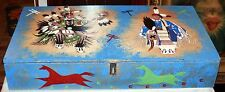 Hand Made/Hand Painted Wooden Box &Chest By LaKota Indian Tribe-Devils Lake N.D.