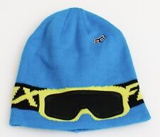 Fox Blue Graphic Knit Beanie Skull Cap Youth One Size NWT