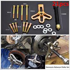 21pcs Carbon Steel Harmonic Balance Car Steering Wheel Puller Pulley Remover Set