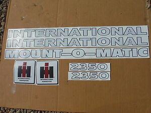"""INTERNATIONAL 2250 OR 2350,  LOADER DECAL SET. """"MOUNT-O-MATIC""""  VINYL. C-DETAILS"""
