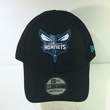NBA Charlotte Hornets New Era 39Thirty Black Fitted Size M-L Cap Hat NWOT
