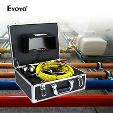 """WSJ 30M Sewer Newest Pipe Drain Video Camera DVR CAM Inspection System 7"""" Screen"""