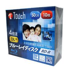 10 Blu Ray Touch BD-R DL 4X 50Gb Rohlinge printable Japan