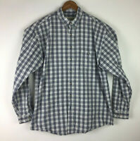 Eddie Bauer Men's Size XL 100% Cotton Plaid Button Front Long Sleeve Shirt