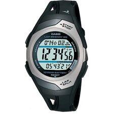 Para Hombre Memoria Corredores Fitness Cronómetro Casio str-300c-1ver Alarma Reloj Digital