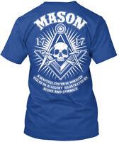 Freemasons Skull Emblem - Mason 17 A Beautiful System Of Premium Tee T-Shirt