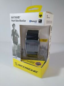 Scosche RHYTHM+ Heart Rate Monitor Armband - Black -2 Bands-  Brand New