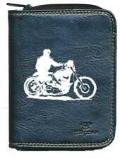 Porte monnaie porte carte noir moto style Harley