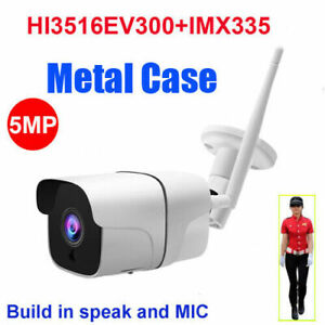 CamHi IMX335 5MP Humanoid Recognition Wireless IP Camera Bullet w/SDCard Speaker