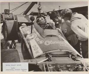 Vintage 1971 Bobby Unser Olsonite Offy Eagle Wreck 8x10 Photo