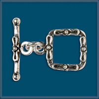 2 sets Sterling Silver 925 FANCY TOGGLE 11.5mm CLASP