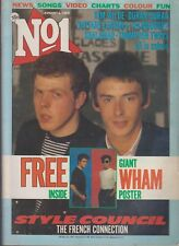 Number One NO 1 UK Music Magazine  Issue 14 Aug 6 1983 Paul Weller Style Council