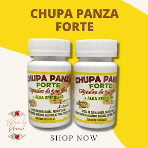 Chupa Panza 60 Cap 100% Natural Capsulas Jengibre, Quema Grasa, Reduce Tallas!