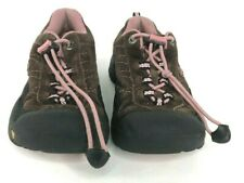 Keen Girl's Suede Slipon Hiking Trail Sneaker Bungee Lace Brown Pink Size 13