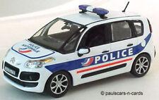 Véhicules policiers miniatures blanc moulé sous pression