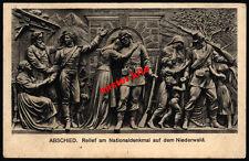Niederwald-denkmal-Relief-Nationaldenkmal-kunstkarte-Hessen-1916-Feldpost-1.wk-