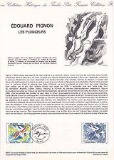 Document Philatélique Timbre 1er Jour : 03/10/ 1981 - Edouard Pignon Plongeurs