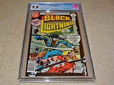 CGC 9.8 BLACK LIGHTNING #1 ORIGIN + 1ST APPEARANCE *WHITE PAGES* BRONZE AGE 1977