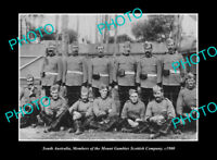 OLD POSTCARD SIZE PHOTO MOUNT GAMBIER SA THE MILITARY SCOTTISH COMPANY c1900