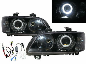 Commodore VE MK4 06-10 Guide LED Halo Projector HID Headlight BK for HOLDEN LHD