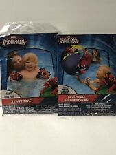 NEW Marvel Ultimate Spider-Man Arm Floats/Arm Floaties And Beach Ball