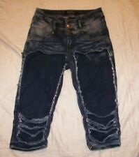 Thrill Distressed Destroyed Capri Jeans - Jrs. 5