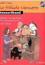 Klarinette + Klavier Noten : KONZERTBAND (Die fröhliche Klarinette) m CD  B-WARE