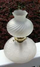 GWTW Banquet Oil Lamp Frost Glass Floral Base/Globe,Victorian.Gone with the Wind