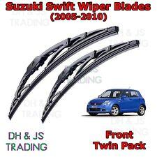 """(05-10) Suzuki Swift MK3 Front Wiper Blades Windscreen 21"""" 18"""" Hook Type"""