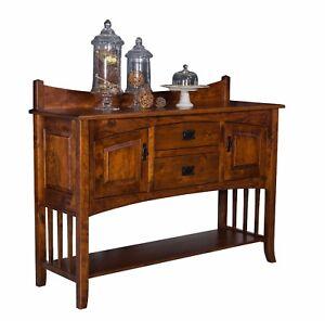 """Amish Mission Dining Room Sideboard Server Backsplash Solid Wood Cambria 60"""""""