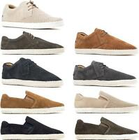 Base London KEEL/CLIPPER Mens Suede Leather Perforated Casual Espadrille Shoes