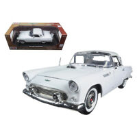 1956 Ford Thunderbird White Timeless Classics 1/18 Diecast Model Car by Motor...
