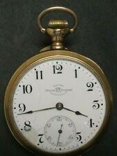1906 Hamilton BALL WATCH CO Railroad Pocket Watch Model 999 18S 21J GF Sapphire