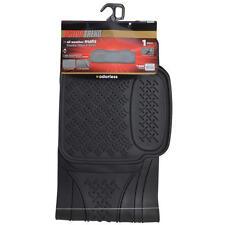 Black Rubber Floor Mat Liner - Rear Utility SUV Truck Pad MOTORTREND